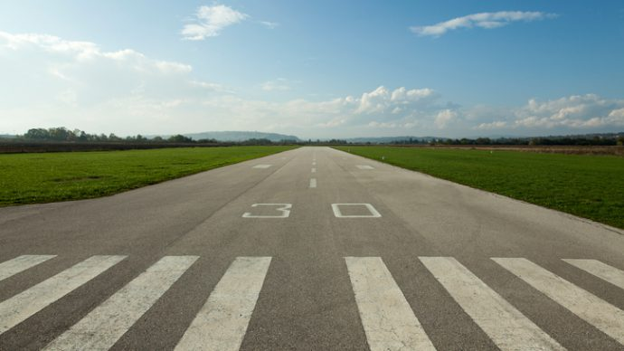plane concrete runway for sports planes